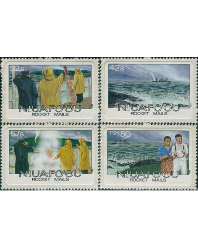 Niuafo'ou 1985 SG60-63 Rocket Mails set MNH