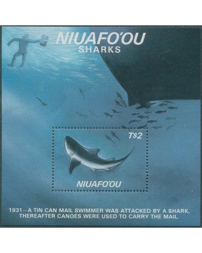 Niuafo'ou 1987 SG98 Sharks MS MNH