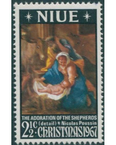 Niue 1967 SG139 2½c Christmas MLH