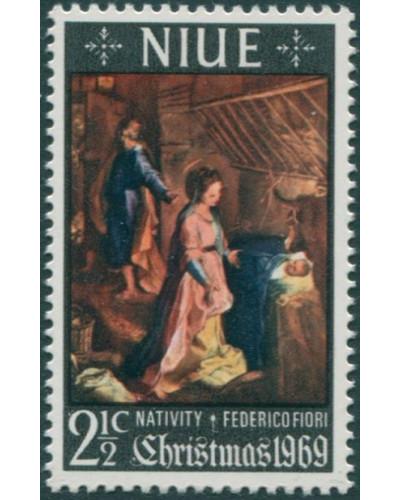 Niue 1969 SG140 2½c Christmas MLH