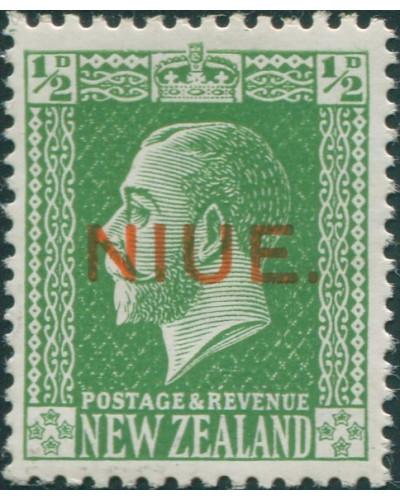 Niue 1917 SG23 ½d green KGV MH