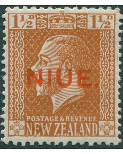 Niue 1917 SG26 1½d orange-brown KGV MLH