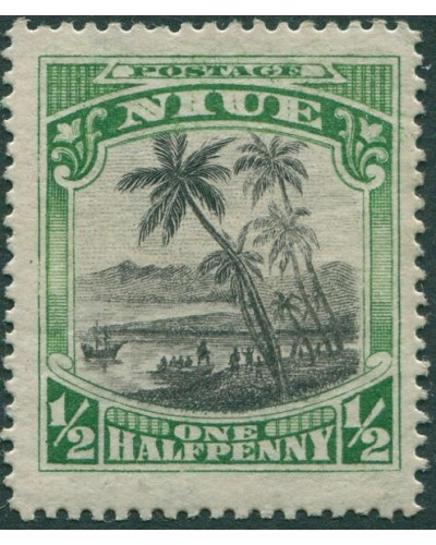 Niue 1920 SG38 ½d black and green Cook Landing MLH
