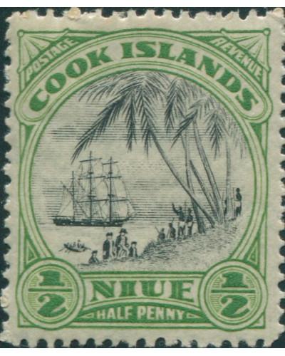 Niue 1932 SG55 ½d Captain Cook landing MH