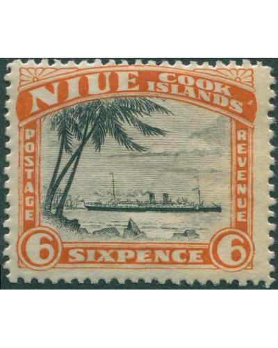 Niue 1932 SG67 6d RMS Monowai MLH