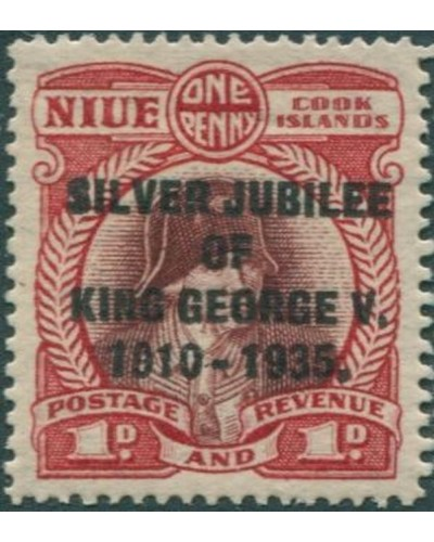 Niue 1935 SG69 1d Silver Jubilee MLH