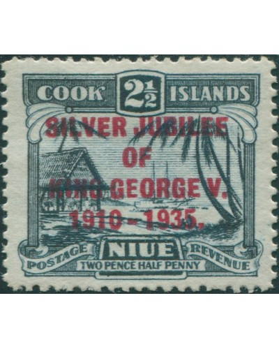 Niue 1935 SG70 2½d Silver Jubilee MLH