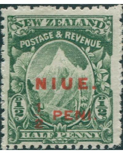 Niue 1902 SG8 ½d green Mount Cook MH