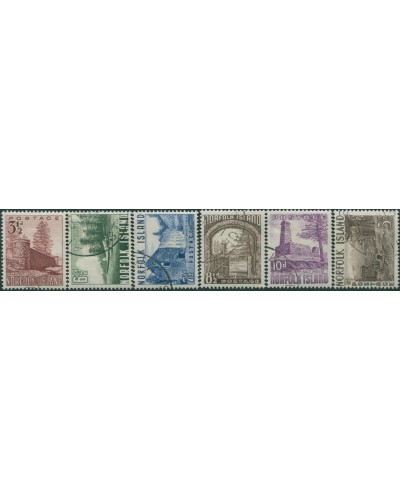 Norfolk Island 1953 SG13-18 definitives set FU