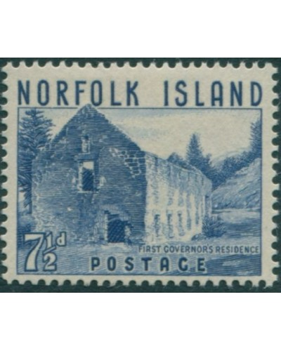 Norfolk Island 1953 SG15 7½d blue Governor's Residence MLH