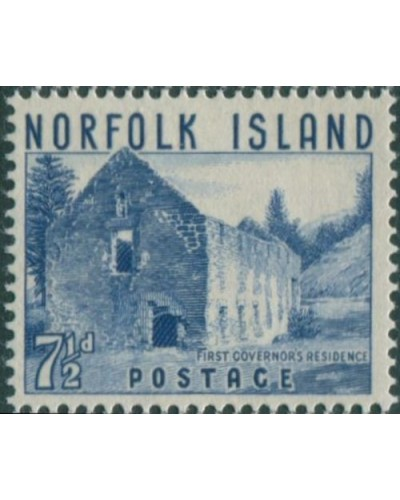 Norfolk Island 1953 SG15 7½d blue Governor's Residence MNH