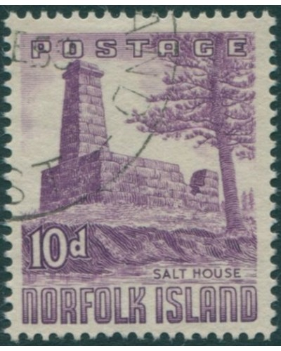 Norfolk Island 1953 SG17 10d violet Salt House FU