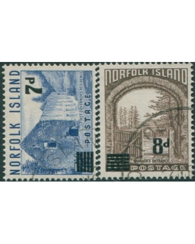 Norfolk Island 1958 SG21-22 Buildings surcharges FU