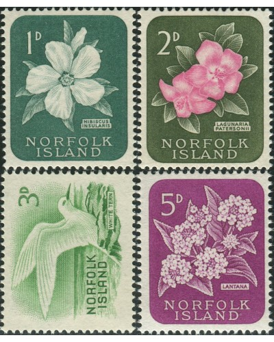 Norfolk Island 1960 SG24-27 Flowers Bird MLH