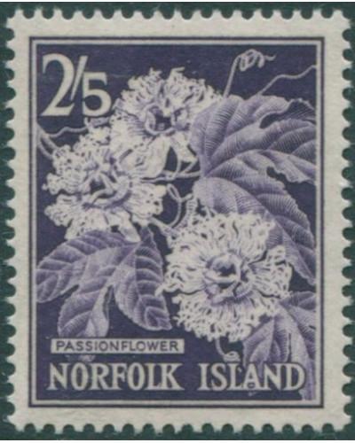 Norfolk Island 1960 SG33 2/5d violet Passionflower MNH