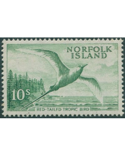 Norfolk Island 1960 SG36 10s Red-tailed Tropic Bird MLH