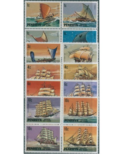 Cook Islands Penrhyn 1981 SG166-185 Ships MNH