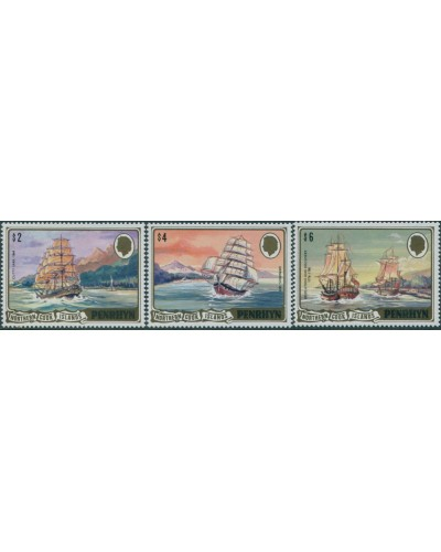 Cook Islands Penrhyn 1980 SG206-208 Ships high values MNH