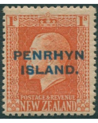 Cook Islands Penrhyn 1917 SG27 1s vermillion KGV MH