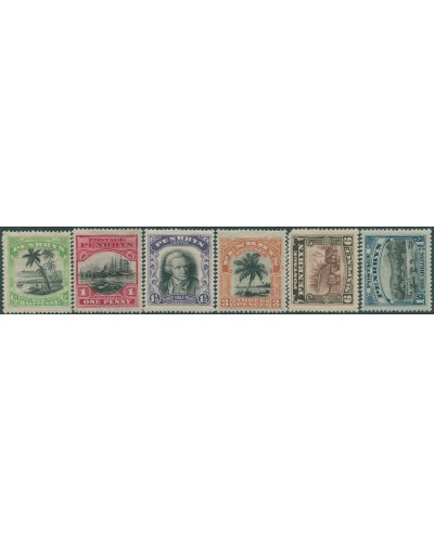 Cook Islands Penrhyn 1920 SG32-37 Scenes and Cook set MLH