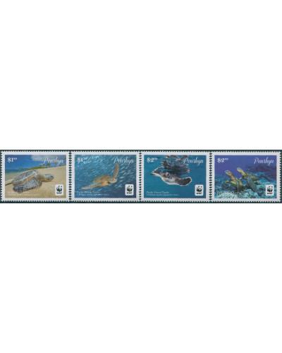 Cook Islands Penrhyn 2014 SG645-648 WWF Green Turtle white edges set MNH