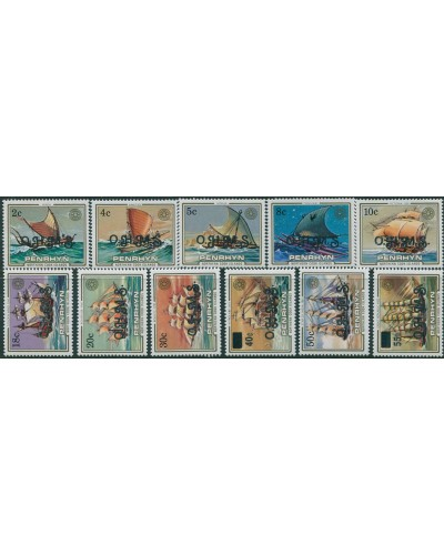 Cook Islands Penrhyn OHMS 1985 Sailing Craft and Ships SGO18-O28 MNH