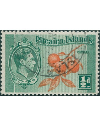 Pitcairn Islands 1940 SG1 ½d Oranges FU