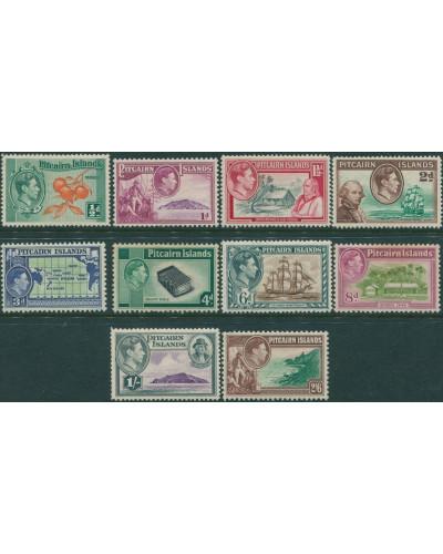 Pitcairn Islands 1940 SG1-8 Bounty set MLH
