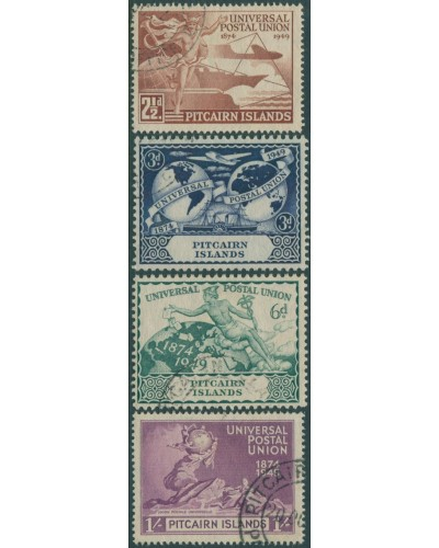 Pitcairn Islands 1949 SG13-16 UPU set FU