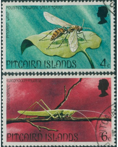 Pitcairn Islands 1975 SG162-163 Insects FU