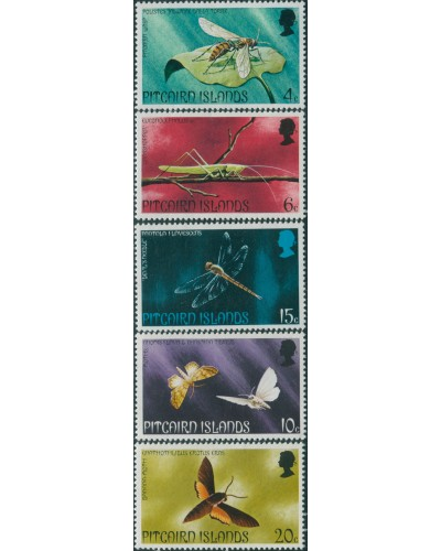 Pitcairn Islands 1975 SG162-166 Insects set MNH