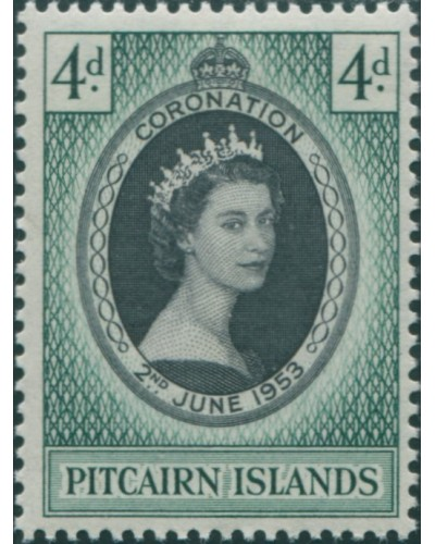 Pitcairn Islands 1957 SG17 4d QEII Coronation MLH