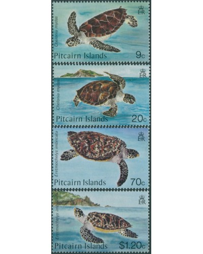 Pitcairn Islands 1986 SG281-284 Turtles set MNH