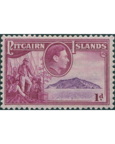 Pitcairn Islands 1940 SG2 1d Christian crew and island MLH