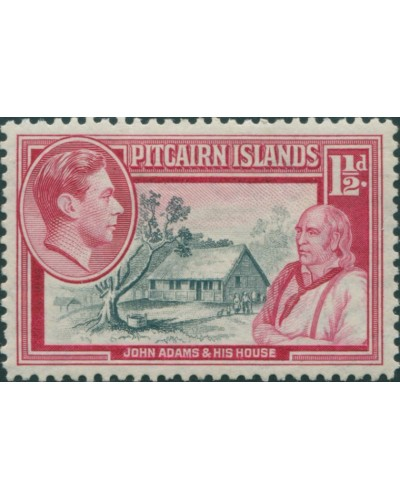Pitcairn Islands 1940 SG3 1½d John Adams and House MLH