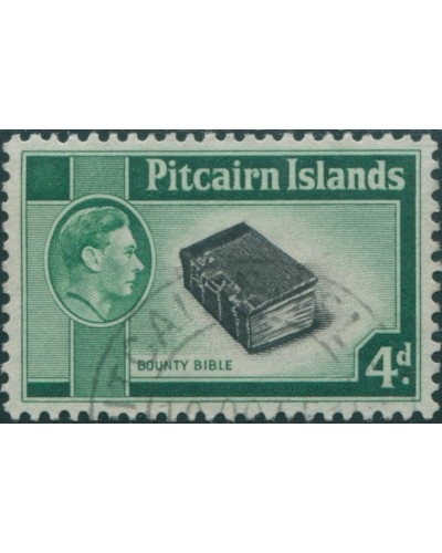 Pitcairn Islands 1940 SG5b 4d Bounty Bible FU