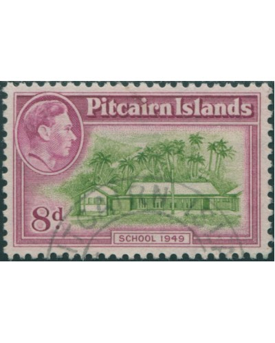 Pitcairn Islands 1940 SG6a 8d School FU