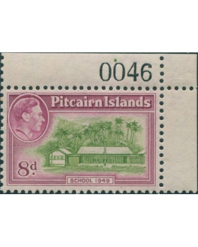 Pitcairn Islands 1940 SG6a 8d School corner imprint 0046 MNH
