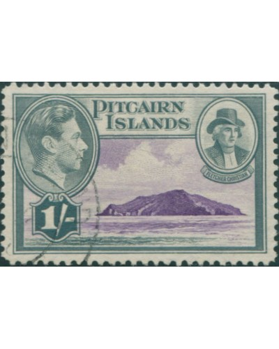 Pitcairn Islands 1940 SG7 1/- Christian and island FU