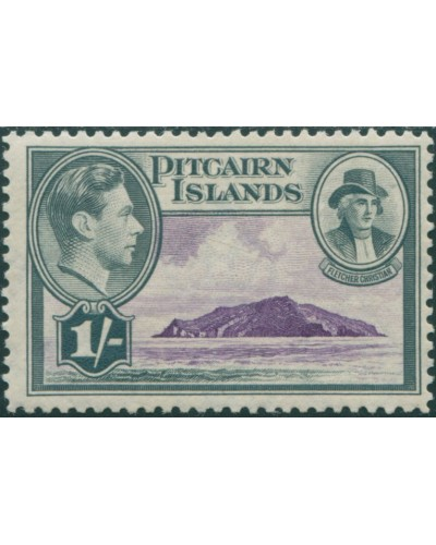 Pitcairn Islands 1940 SG7 1/- Christian and island MLH