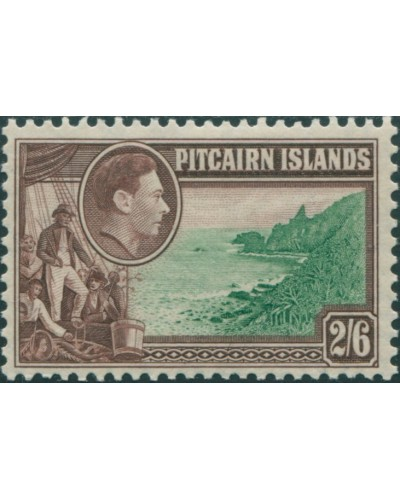 Pitcairn Islands 1940 SG8 2/6d Christian crew and coast MLH