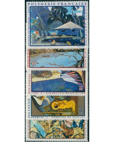 French Polynesia 1971 Sc#C78-C82,SG147-151 Paintings set MLH