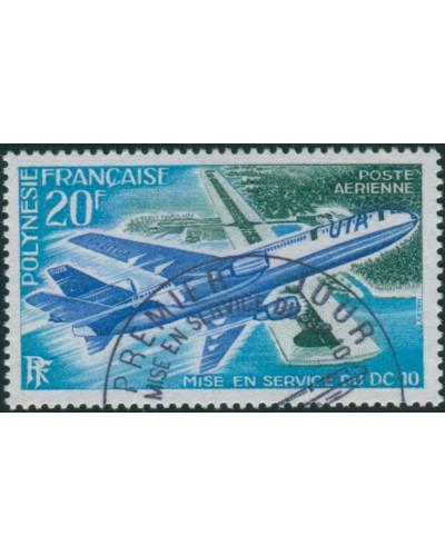 French Polynesia 1973 Sc#C97,SG168 20f Douglas DC-10 Papeete Airport FU