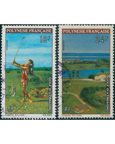 French Polynesia 1974 Sc#275-276,SG177-178 Golf Course set FU