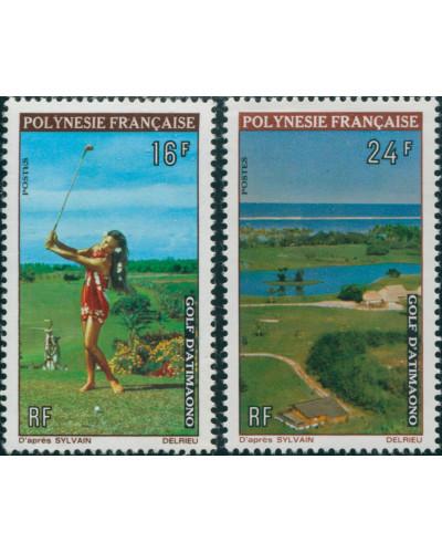 French Polynesia 1974 Sc#275-276,SG177-178 Golf Course set MLH