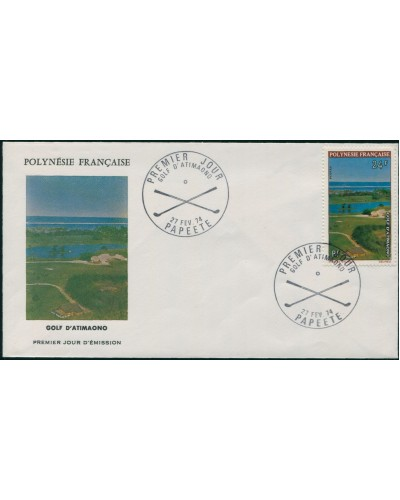 French Polynesia 1974 Sc#276,SG178 24f Golf Course View FDC