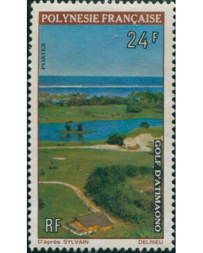 French Polynesia 1974 Sc#276,SG178 24f Golf Course View MNG