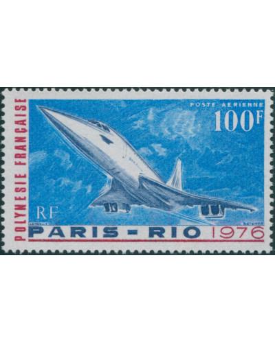 French Polynesia 1976 Sc#C127,SG210 100f Concorde MLH