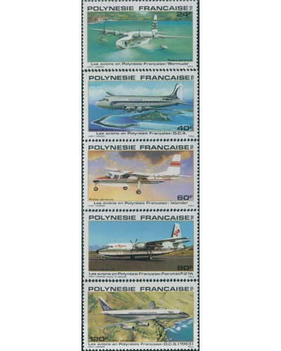 French Polynesia 1979 SG312-316 Aircraft set MLH