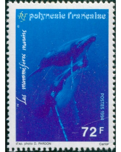 French Polynesia 1994 Sc#636,SG696 72f Humpback Whales MLH